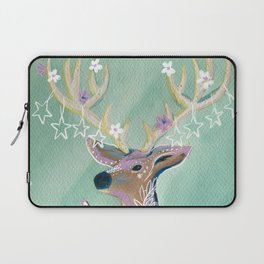 Peace - Holiday starry deer Laptop Sleeve