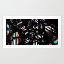 Chromatic Caverns Art Print