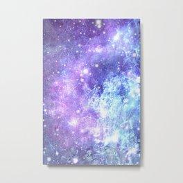 Grunge Galaxy Lavender Periwinkle Blue Metal Print