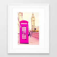 telephone Framed Art Prints featuring TELEPHONE  by Ylenia Pizzetti