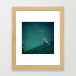 Camouflage: The Crane Framed Art Print