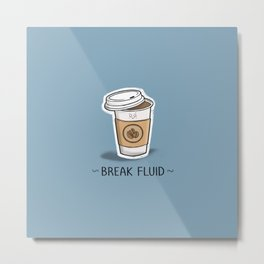 Break Fluid Metal Print