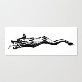 dacia wolf flag Canvas Print