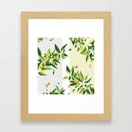 Magnolia Stripe Framed Art Print