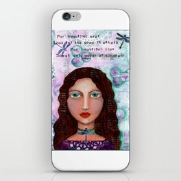 For Beautiful Eyes iPhone Skin
