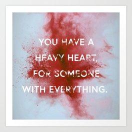 NIGHTWALKER | Heavy Heart Art Print