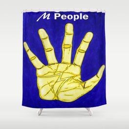 M People Shower Curtain