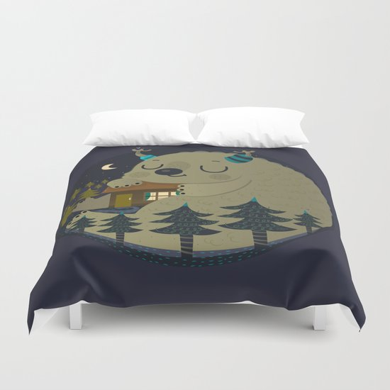 Home is where the monsters are Duvet Cover