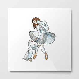 Jurgita - Ballerina Drawing Metal Print