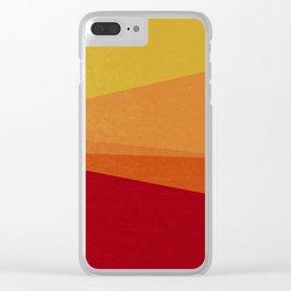 Stripe X Orange Peel Clear iPhone Case