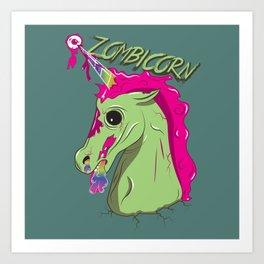 Zombicorn Art Print