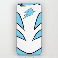 power ranger iPhone & iPod Skins featuring Cyan Spirit Ranger by JoSumdac
