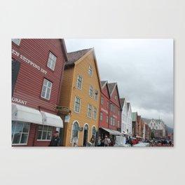 Old Wharf Bergen, Norway Canvas Print