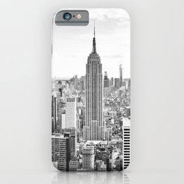 New York City, Manhattan (Black & White) iPhone Case