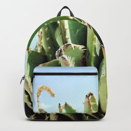 Green exotic plant Backpack