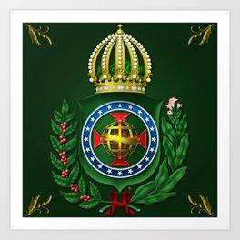 Dom Pedro II Coat of Arms Art Print