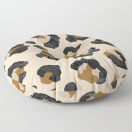 Leopard Print – Neutral Gold Light Palette Floor Pillow