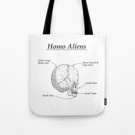 Homo Aliens Tote Bag