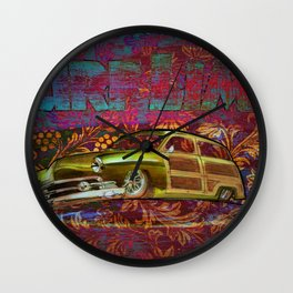 Surf Limo Wall Clock