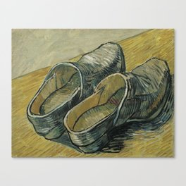 Vincent van Gogh - A pair of leather clogs Canvas Print