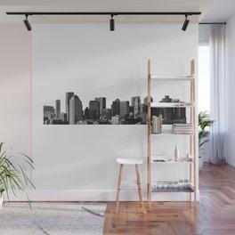 Boston Massachusetts Skyline Black and White Wall Mural