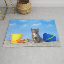 Kitten Fun in the Sun Beach Time Rug