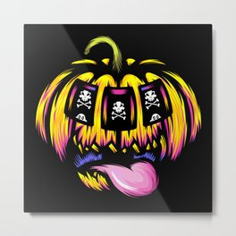 Pumpkin Slot Metal Print