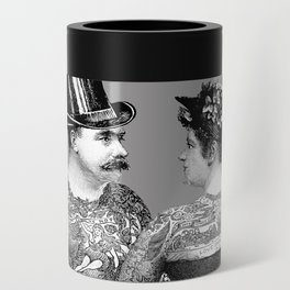 Tattooed Victorian Lovers Can Cooler