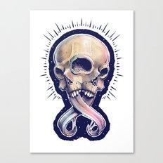 Triple eyed skull Canvas Print