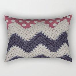 Chevron and Dot Rectangular Pillow