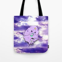 lumpy space princess Tote Bags featuring Meanwhile in Lumpy Space by Oceanic Inks