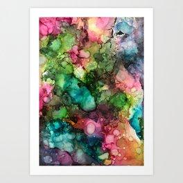 Abstract Fluid Ink Art Print