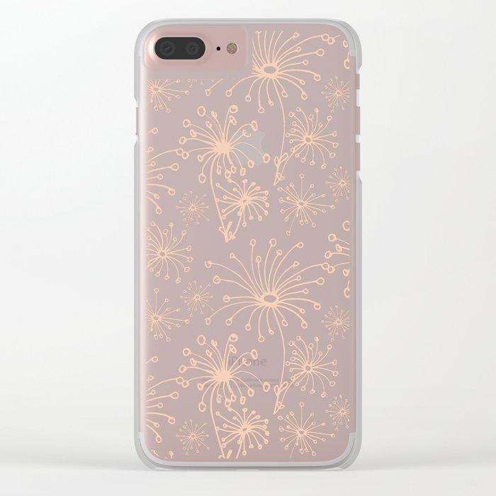 Stylized Dandelion Dark #society6 #decor #buyart Clear iPhone Case