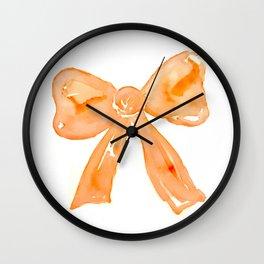 Bow Peach Wall Clock