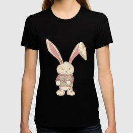 Christmas cute hare. Winter design illustration T-shirt