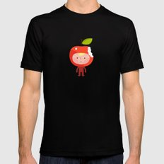 Apple face Black Mens Fitted Tee MEDIUM