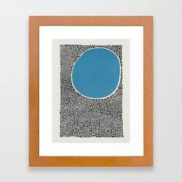 Abstract Blue Lake Framed Art Print