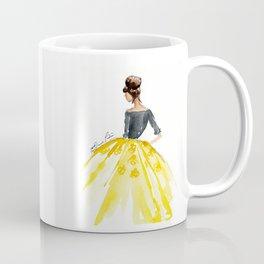 Sunny Spring Yellow Skirt Fashion Illustration Coffee Mug