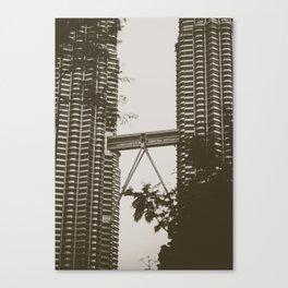 Bridge between Twin Towers Canvas Print