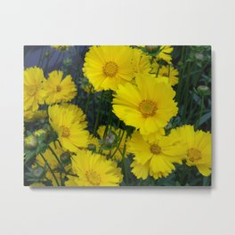 A burst of yellow Metal Print