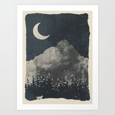 Winter Finds the Wolf... Art Print