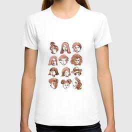 girl face T-shirt