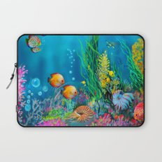 Undersea with Nautilus Laptop Sleeve