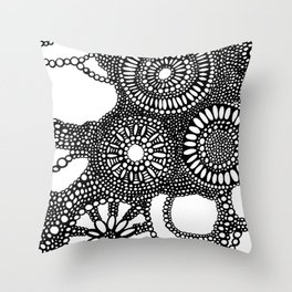 graphic dots pattern Throw Pillow