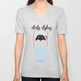 dirty dishes (girl) Unisex V-Neck