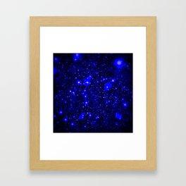 Dark Matter Galaxy Blue Framed Art Print