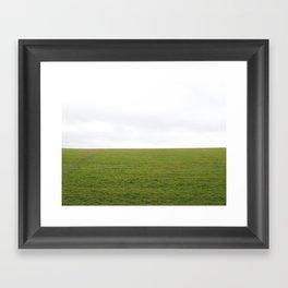 Plain green Framed Art Print