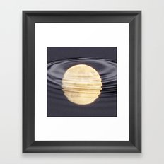 Cold Moon Reflections Framed Art Print