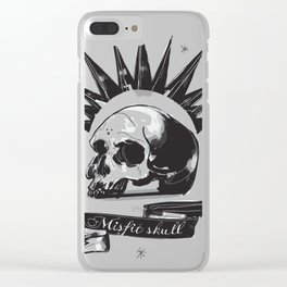 Misfit Skull Clear iPhone Case