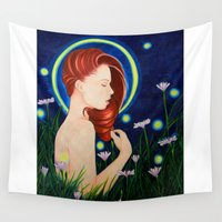 firefly Wall Tapestries featuring Firefly  by A.LynnArt